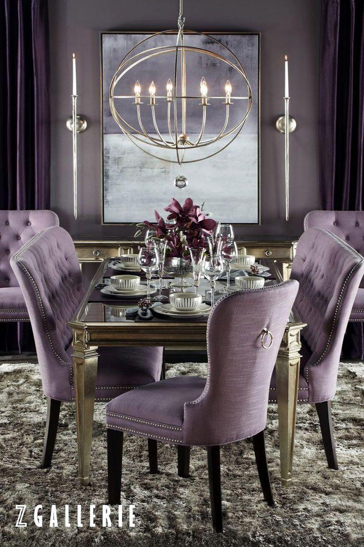 nice Salle à manger - Фиолетовый в интерьере столовой | Фотографии красивых интерьеров