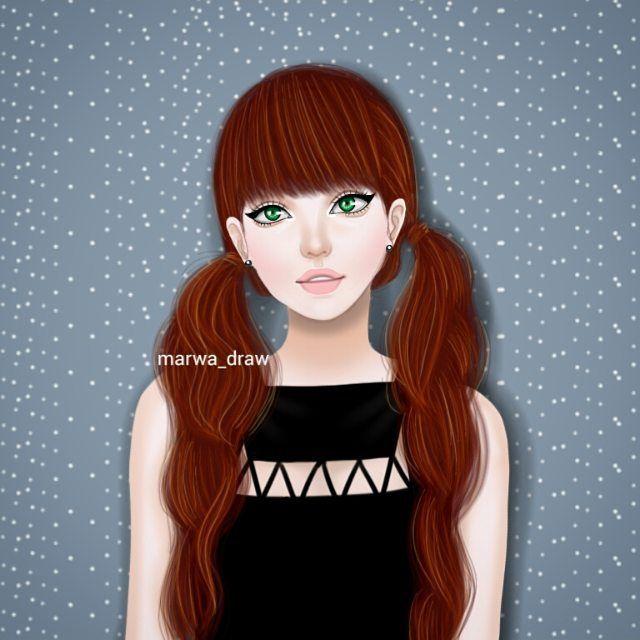 صور رسم بنات كرتون رمزيات رسومات انمي للانستقرام Girly Art Girly M Sarra Art