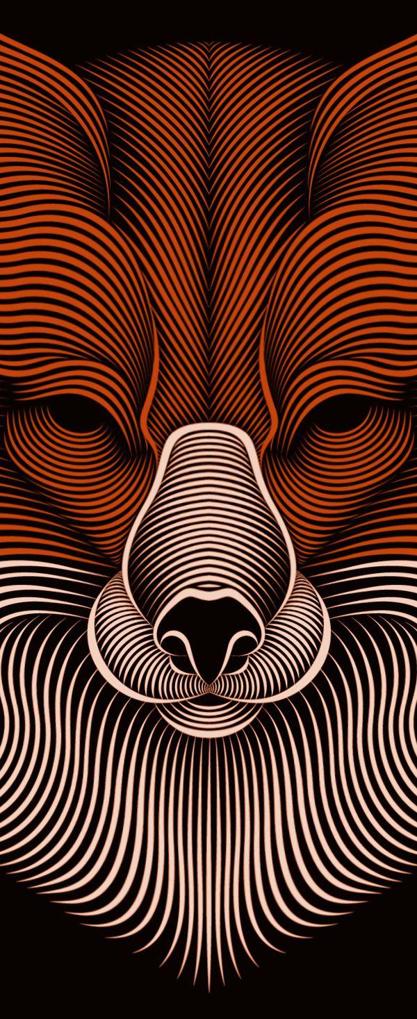 Fox by Patrick Seymour, via Behance
