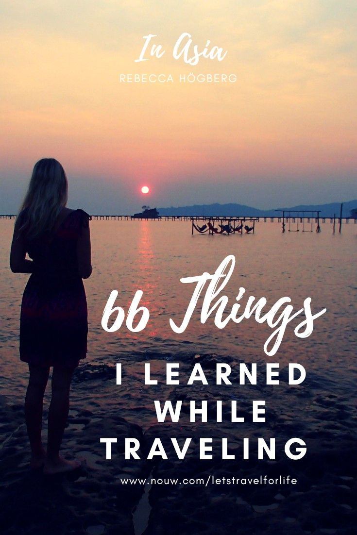 66 things I learned while traveling