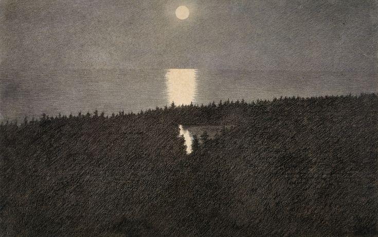 Theodor Kittelsen, Måneskinn. (1893)