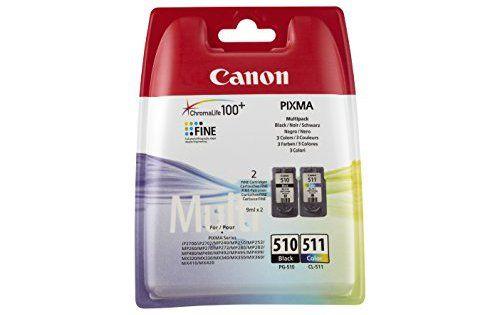Canon – PG-510 & CL-511 – Cartouches d'Encre – Noir & Couleur: Description du produit : Canon PG-510 & CL-511 Pack de 2 Type de produit :…