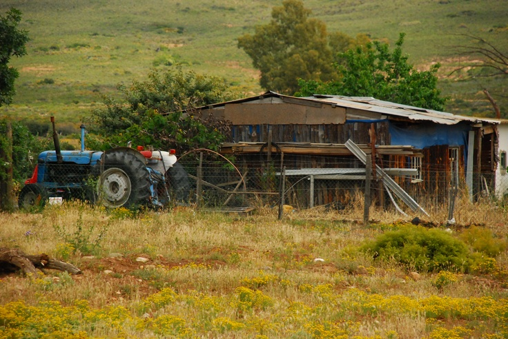 Tractor at McGregor, South Africa