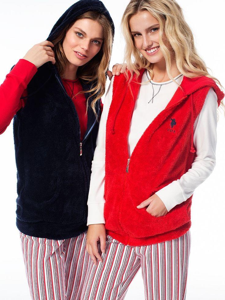 US Polo 15548 Polar 3'lü Bayan Pijama Takım  | Mark-ha.com #markhacom #pijama #fashion #newseason #moda #trend #yenisezon #uspolo
