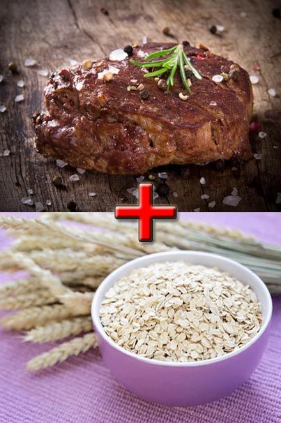 Here's a way to spice up breakfast! Beef and oats complement each other perfectly!