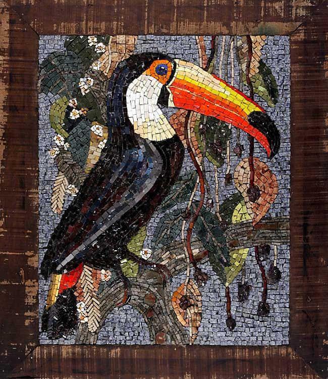 Mosaico de Bea Pereira: Beautiful Mosaics, Mosaics Art, Animals, Mosaics Birds, Mosaics Toucan, Mosaics Beautiful, Mosaics Ideas, Mosaics Glasses, En Mosaique