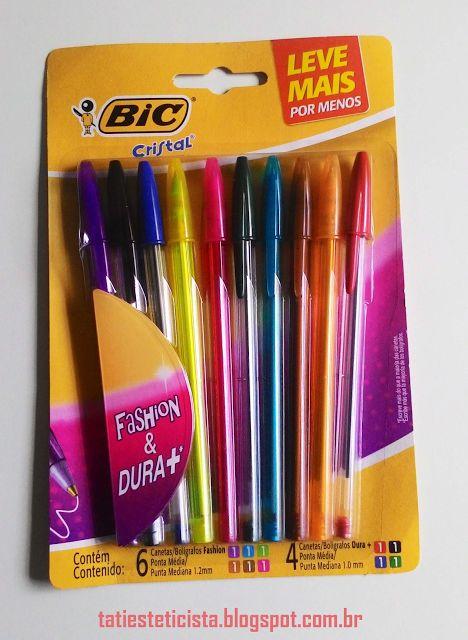 Estética Feminina: Volta às aulas com canetas coloridas
