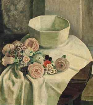 dod procter  | Dod Procter, R.A. (1891-1972) | Still life of mixed flowers and a ...
