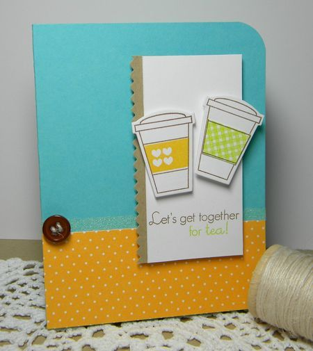 get togetherCoffee Teas Cards, Cards Ideas, Coffe Cards, Heart 2 Heart, Handmade Cards, Stamps Sets, Cards Creations, Coffee Cards, B Cards