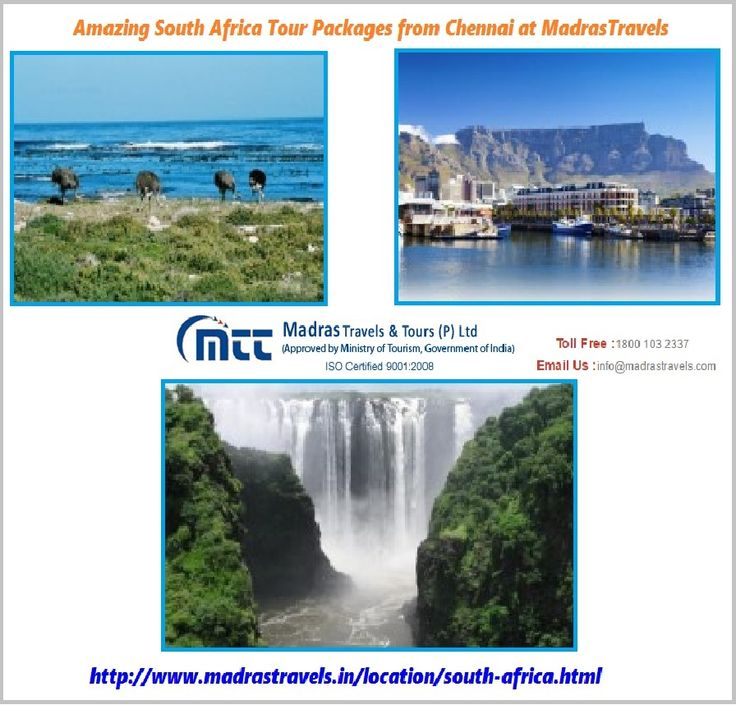 South Africa Tour Packages from Chennai, get affordable deals for south africa tour packages at Madras Travels & Tours. Book now to get a memorable stay at the best prices.