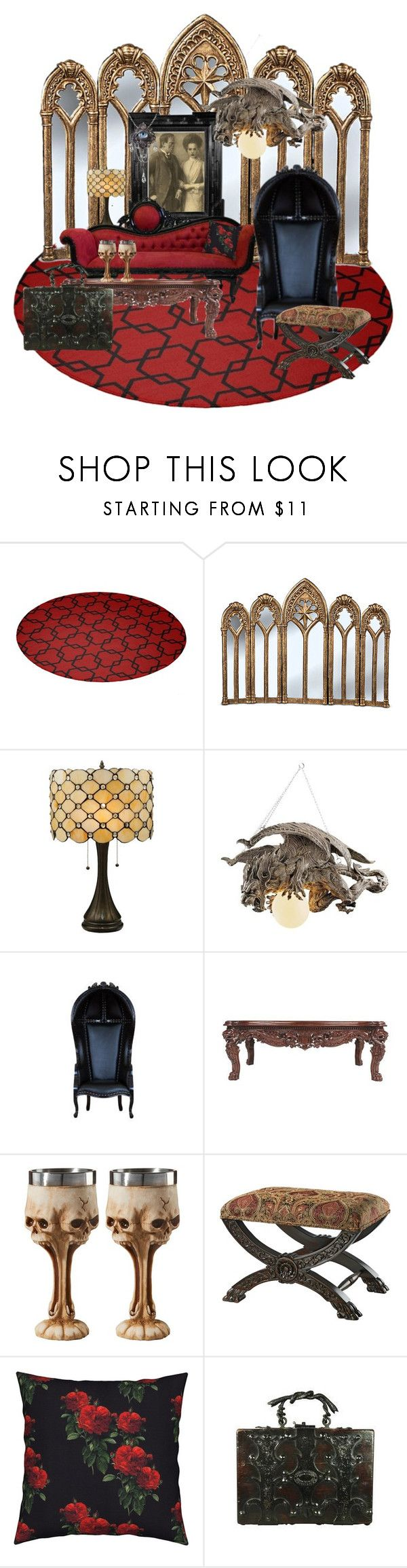 """""""Halloween brings out the Goth in Me"""" by dreamcatcher51 ❤ liked on Polyvore featuring interior, interiors, interior design, home, home decor, interior decorating, Improvements, Terry Fan, Linda Horn and goth"""