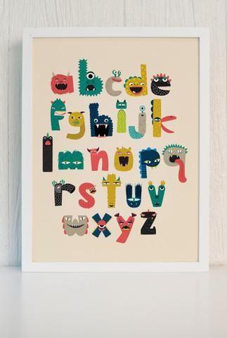 Monster Alphabet Poster Pack