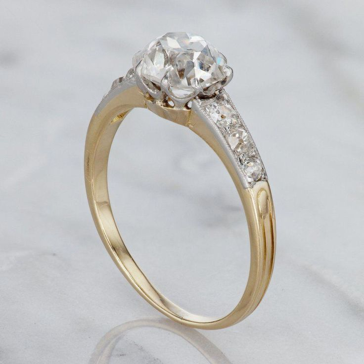 Early 1900s Engagement Ring - Diamond & Yellow Gold