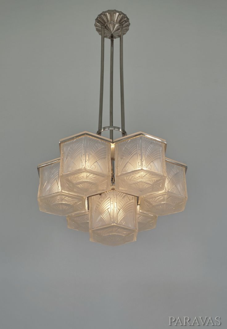 A large and very rare 1930 hettier et vincent chandelier paravas ebay