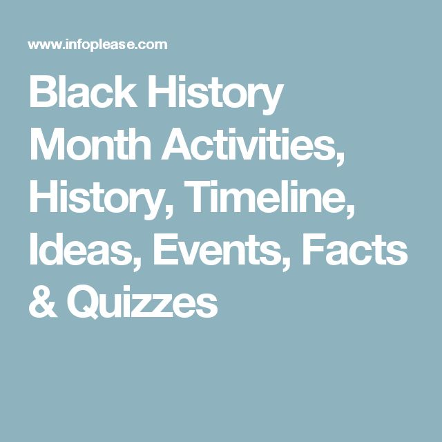 Black History Month Activities, History, Timeline, Ideas, Events, Facts & Quizzes