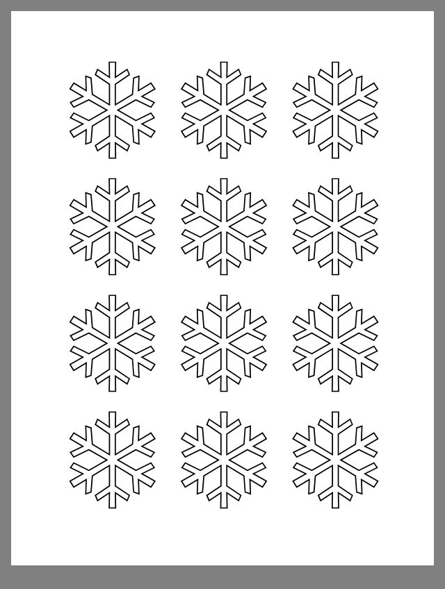 45++ Snowflake stencil template for cakes inspirations