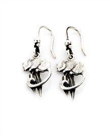 Silver Possum Earrings