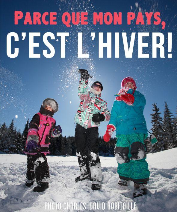 Raison 30 : parce que mon pays, c'est l'hiver! #Hiver #Sport #QcOriginal