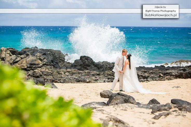 Hawaje, Slub na Hawajach, za granica, Slub w Tropikach, ślub na plaży, slub na plazy, ślub w plenerze, Egozytyczny, pomysl, sesja fotograficzna, śluby, wesele, Hawajski, fala, skaly