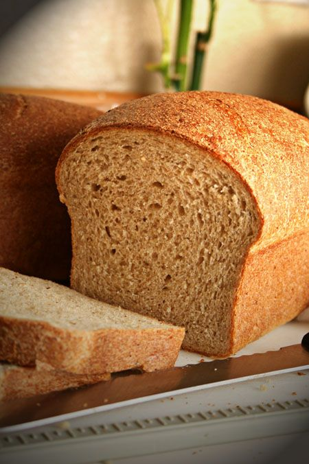 Stone Ground Wheat Bread Recipe - Home made. Super soft, moist, fluffy. Never dry or crumbly! Love this recipe!