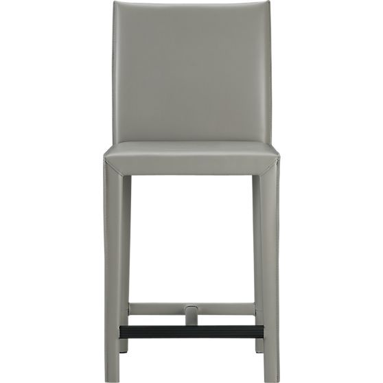"""Folio Oyster Bonded Leather 24"""" Bar Stool in Bar Stools 