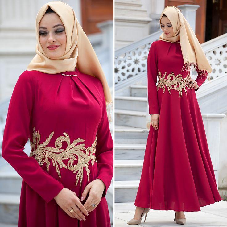 PUANE - EVENING DRESS - 4703BR #hijab #naylavip #hijabi #hijabfashion #hijabstyle #hijabpress #muslimabaya #islamiccoat #scarf #fashion #turkishdress #clothing #eveningdresses #dailydresses #tunic #vest #skirt #hijabtrends