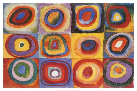 Farbstudie Quadrate, c.1913 Print by Wassily Kandinsky - AllPosters.co.uk