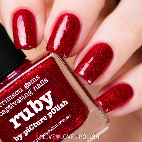 Ruby Nail Polish: 71 Best Valentines Nails Images On Pinterest
