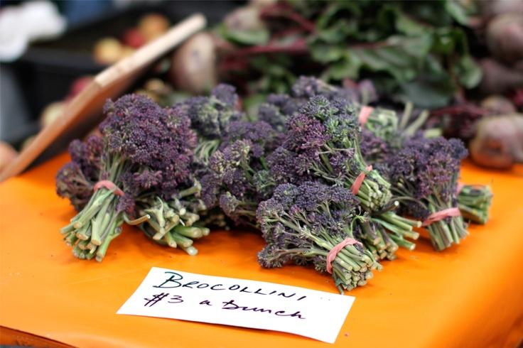 broccoli in purple..