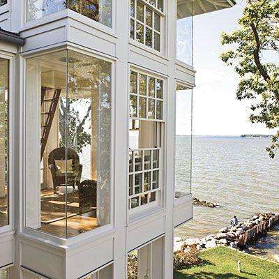 Looking through beautiful windows to a beautiful view!