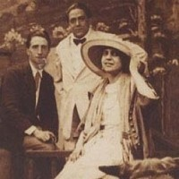 Marcel Duchamp, Francis Pacabia, and Beatrice Wood at Coney Island in 1917