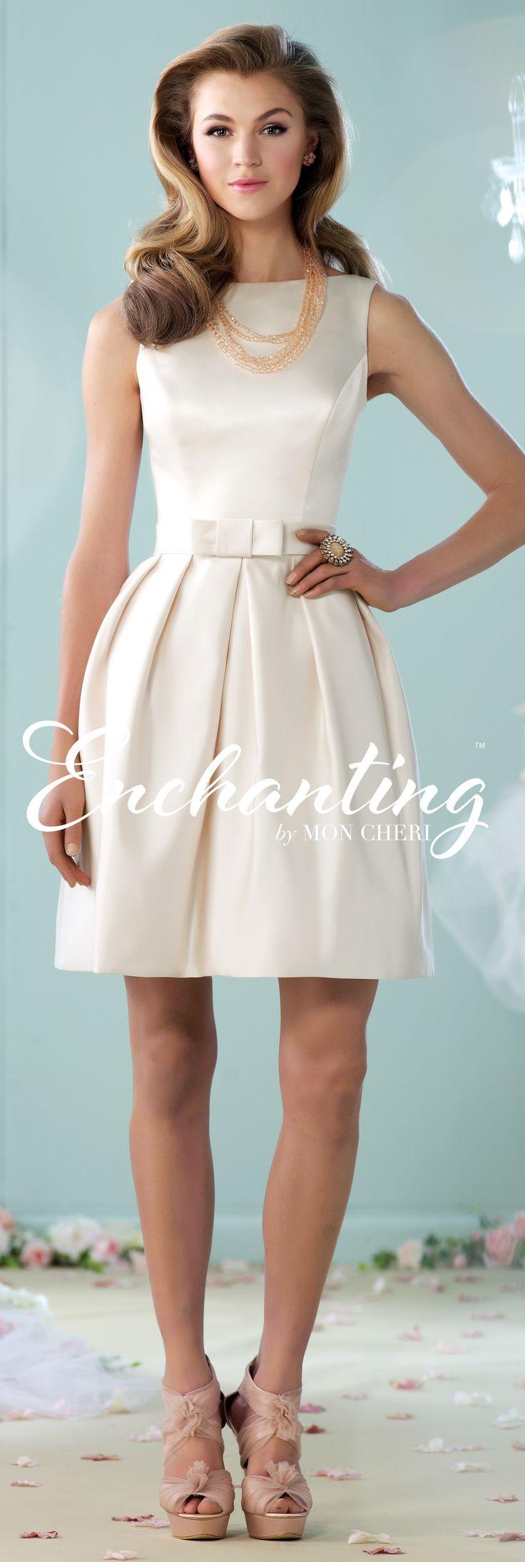 Enchanting by Mon Cheri - The Premiere Collection ~Style No. 215109 #shortweddingdresses
