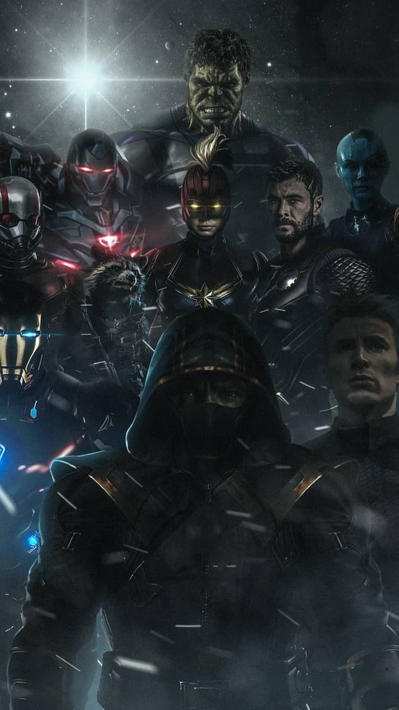 Avengers Endgame Poster Art iPhone Wallpaper Avengers