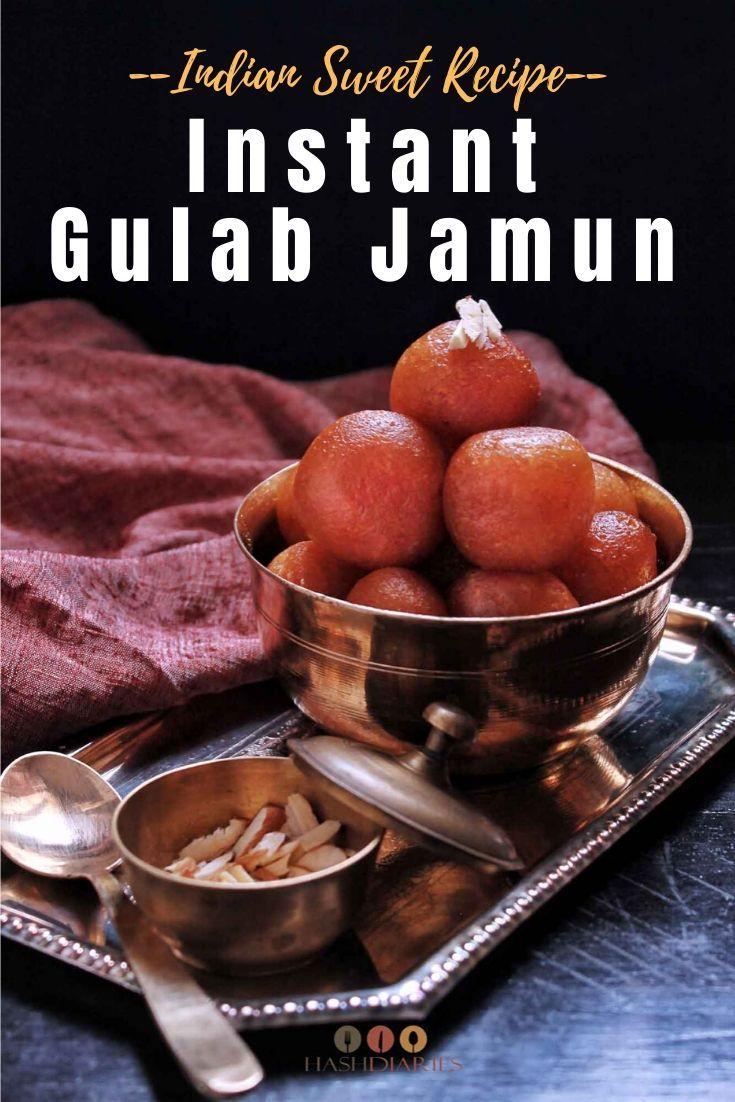 Instant Gulab Jamun Recipe In 2020 Jamun Recipe Gulab Jamun Recipe Recipe Using Milk