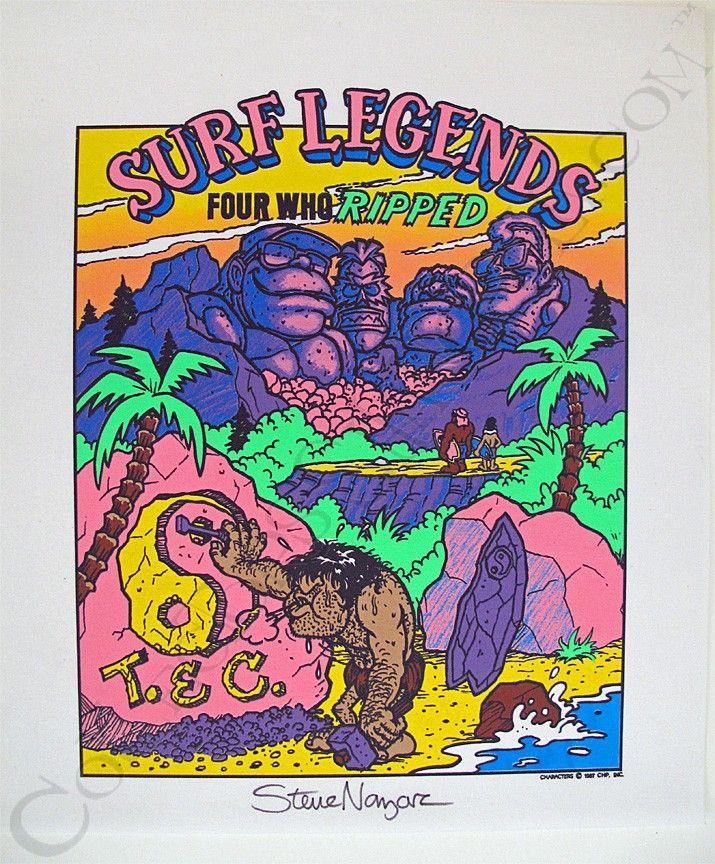 Tc surf designs surf legends proof print signed by steve nazar