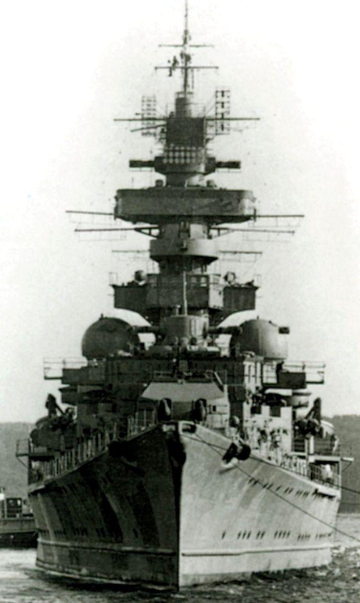 Heavy Cruiser Prinz Eugen. Photo possibly 1943