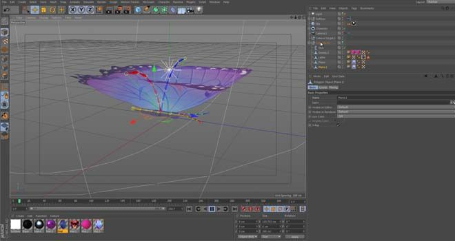 Rigged Butterfly Cinema 4d Model Free Download Gfxcave Net