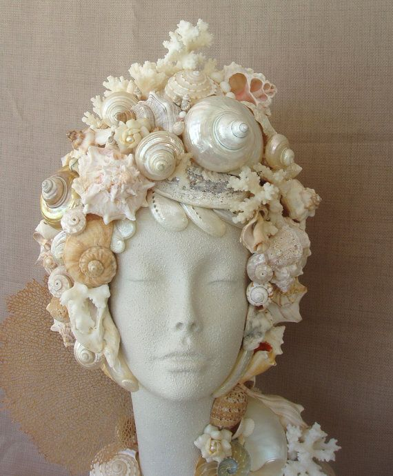 Bust Seashell Mannequin Head Pearl
