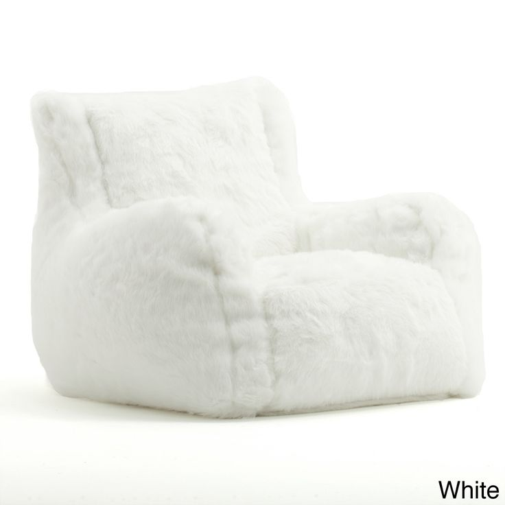 BeanSack Big Joe Lusso Faux Fur Bean Bag Chair