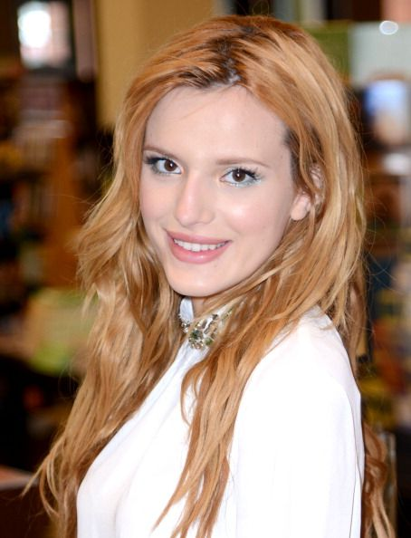 Bella Thorne poses during an autograph session on May 14, 2014 in San Bruno, California.