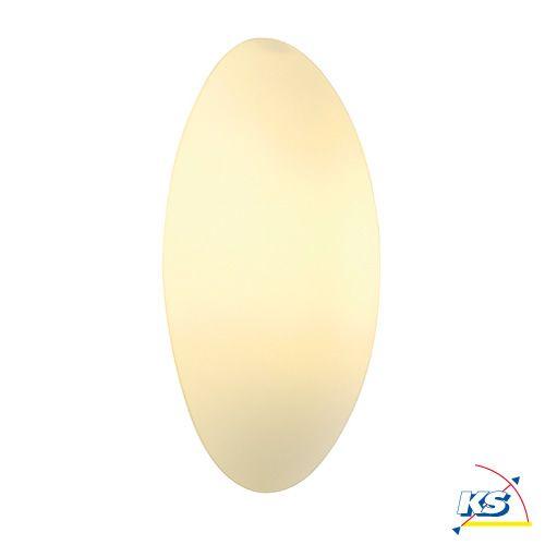 Væg-/Loftlampe  WL 103 E14, oval, hvidt glas, max.40W