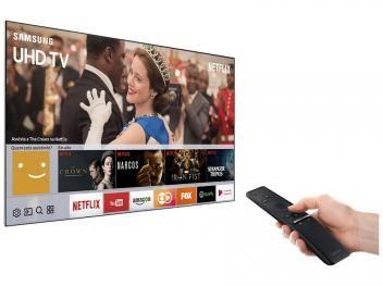 """Smart TV LED 75"""" Samsung 4K Ultra HD 75MU6100 - Conversor Digital Wi-Fi 3 HDMI 2 USB"""