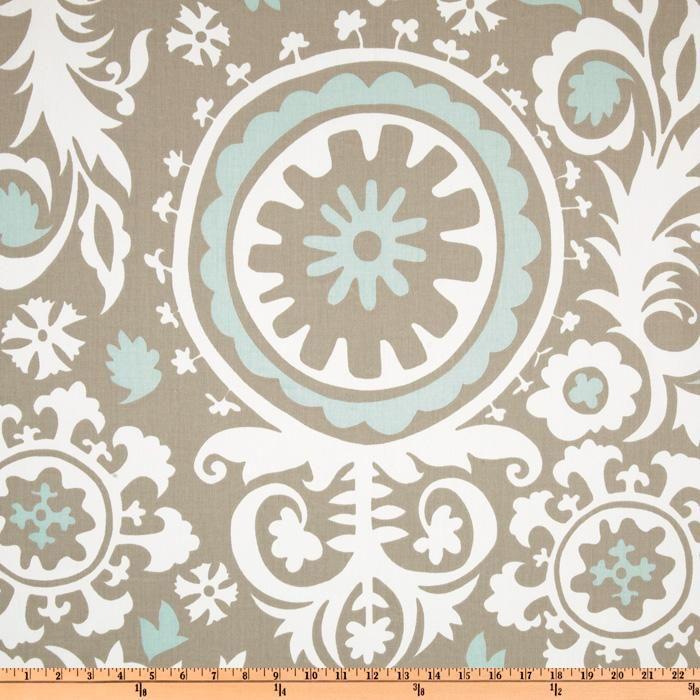 Premier Prints Suzani Twill Powder Blue - Discount Designer Fabric - Fabric.com Kitchen curtain fabric