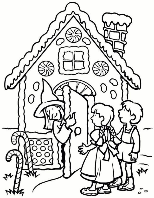 Hansel Et Gretel Coloriage Hansel Und Gretel Kindergarten Marchen Basteln Hansel Und Gretel