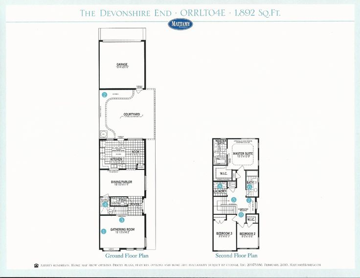 Lake burden devonshire townhouse floor plan in windermere for Devonshire floor plan