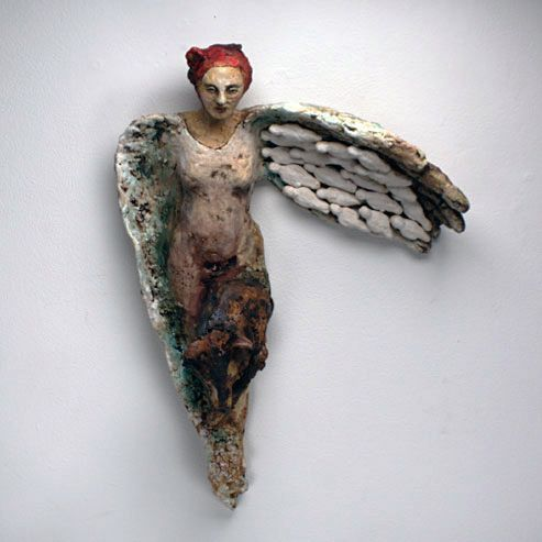 -she just flew...flew right away with her one good wing...Red Lodge Clay Center | Debra Fritts