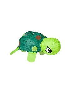 Turtle Pinata by Ya Otta Pinata. $12.99. 19 inch long x 8 inch high x 10 1/2 inch deep. made of paper mache. Our Turtle Piñata is ready to make an impact at your child's ocean party! Simply fill his belly with candy and small toys, and then let your party guests take turns breaking it open. You can also use this traditional turtle pinata as a centerpiece before playing the pinata game.Includes 1 turtle-shaped pinata that measures 17.5 x 8-inchesHolds up to 2 pounds of pr...