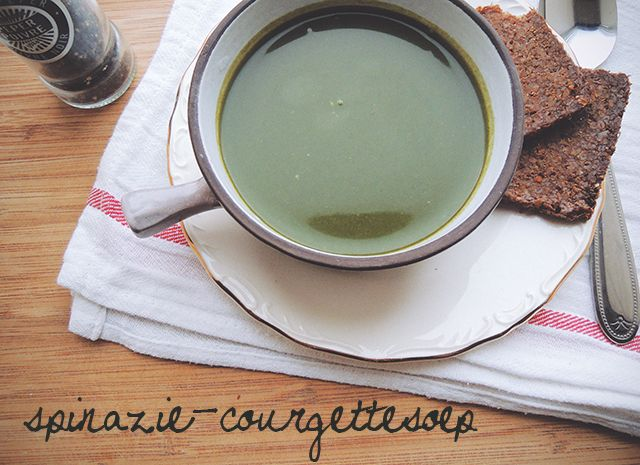 Recept: Spinazie-Courgettesoep