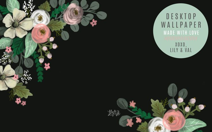 June's Floral FREE Wallpaper Download based on the Lily & Val National Stationery Show Booth Backdrop