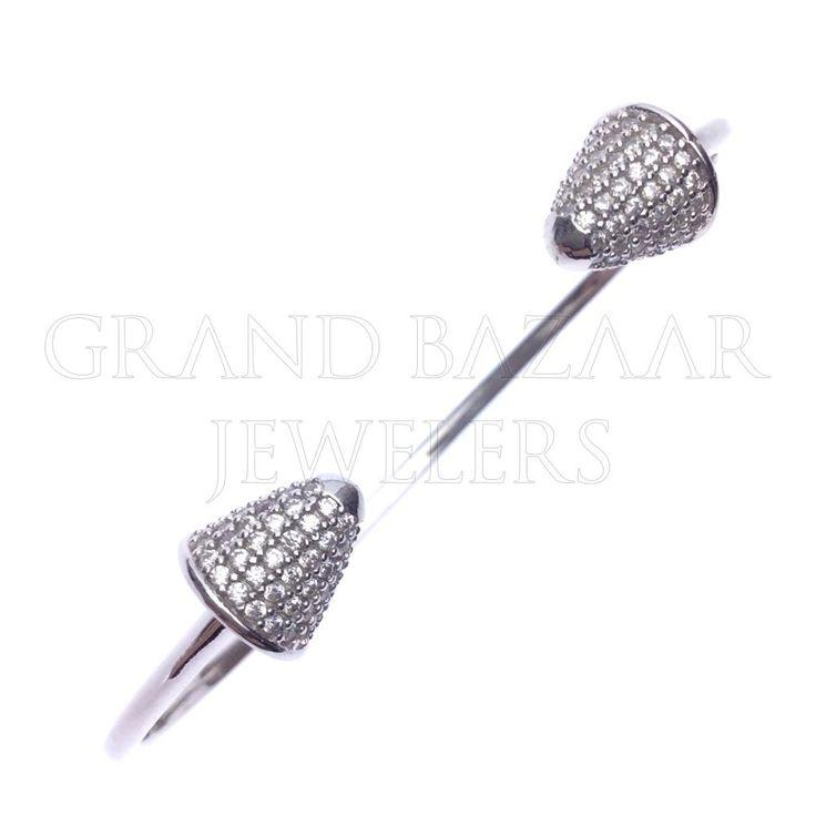 Silver Geometric Design Bracelets